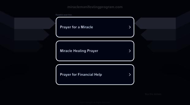 miraclemanifestingprogram.com