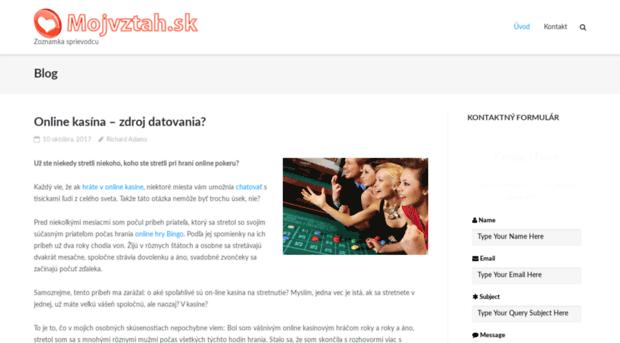 skutočné datovania webové stránky