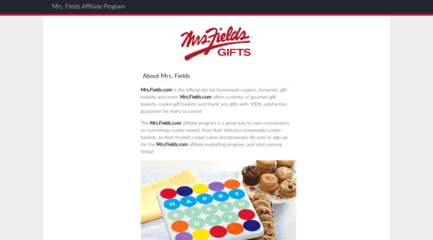 mrs fields cookies overview