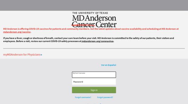 mymdanderson.com