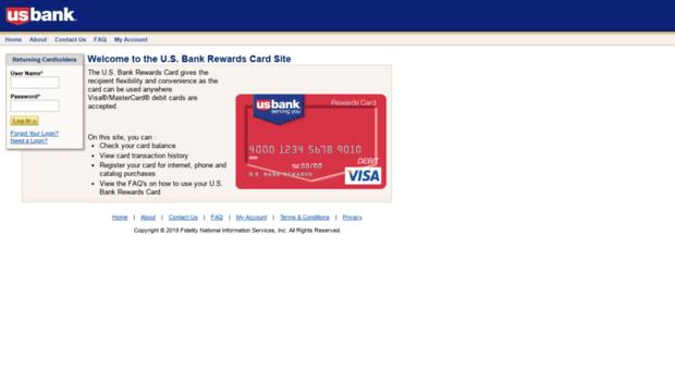 myusbankcorporaterewards.com - Rewards Card - Welcome to the