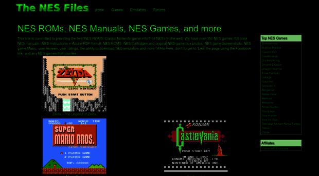 nesfiles.com - The NES Files - NES ROMs, NES ... - NES Files