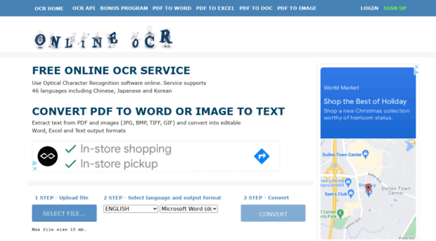 free online ocr service convert scanned pdf to word