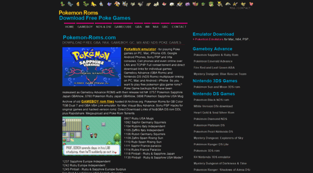 pokemon-roms com - Pokemon Roms • Download Sun Mo