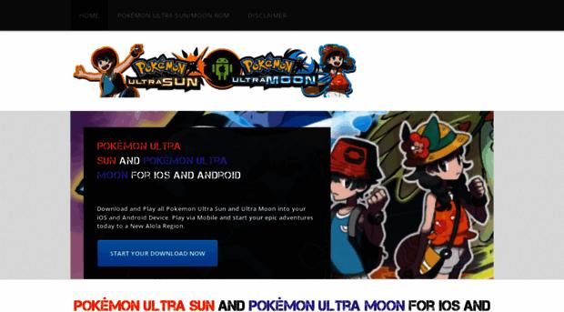 Pokemon ultra sun rom download
