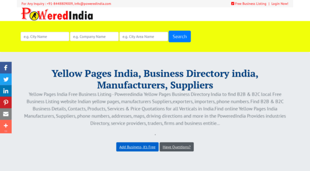 Edindia Indian Yellow Pages