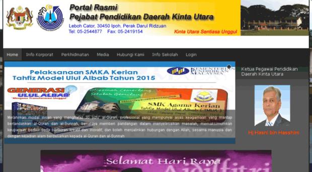 Ppdkinta Edu My Portal Rasmi Pejabat Pendidika Ppd Kinta