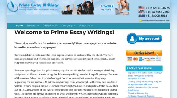prime essay writers