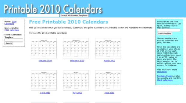 printable2010calendar.net