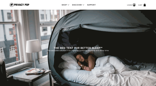 The Bed Tent For Better Sleep Official Site Privacy Pop