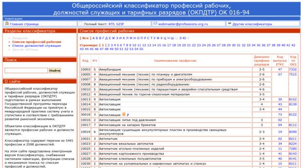 выборе классификатор профессий и должностей россия 2016 физической работе