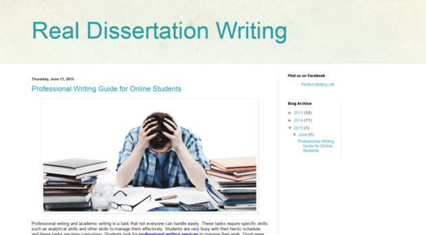 dissertation blogspot Hi one year later and another dissertation to write, the topic this time: job satisfaction actually to make it sound more academic the effect of management practices on employees in the customer.