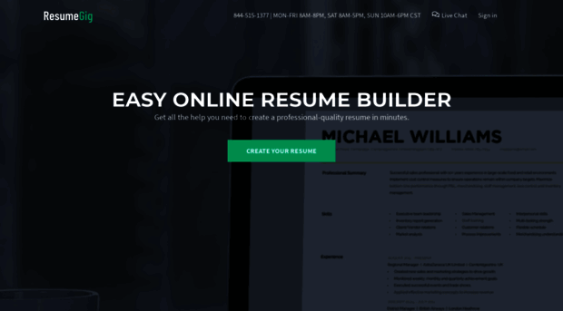resumegig com - resumegig  instantly create yo