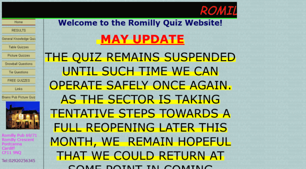 romillyquiz co uk - Free Quiz Questions 2019 - Romilly Quiz