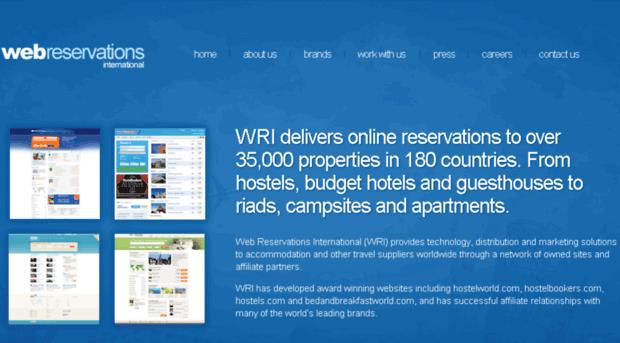 web reservations international Hostelworld group (hsw), formerly web reservations international, is the world's leading hostel-focused online booking platform.