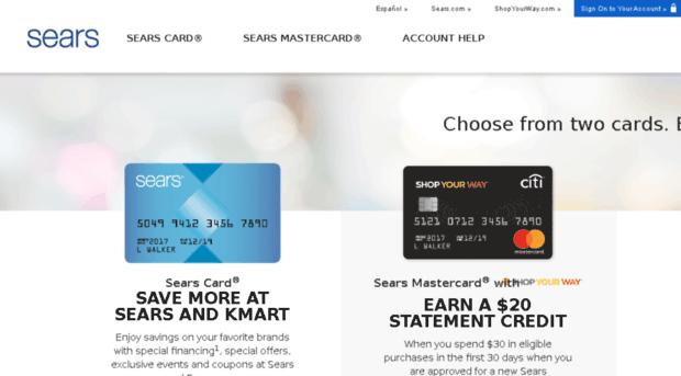 searscard.com - Apply for a Sears Credit Card  - Sears Card