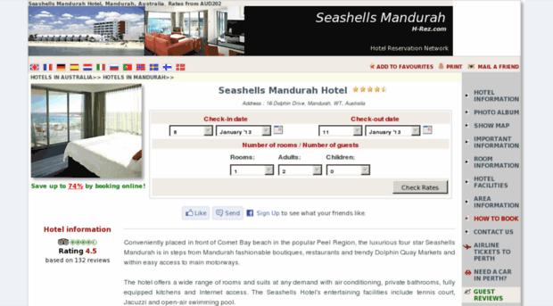 seashells-resort-mandurah.h-rez.com