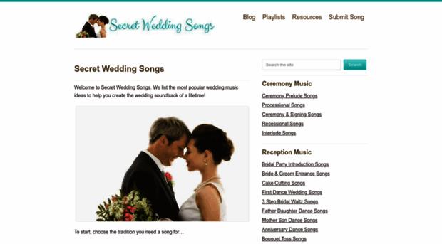 secretweddingsongs.com