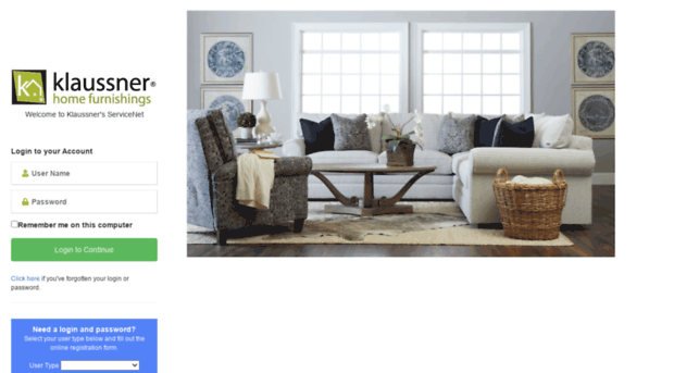 servicenet.klaussner.com