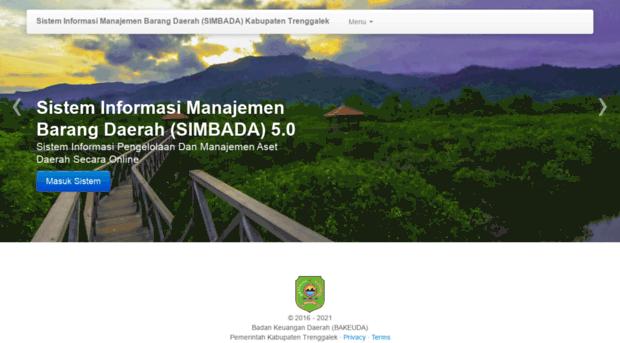 Simbada Trenggalekkab Go Id Sistem Informasi Manajemen Bar Simbada Trenggalek Kab