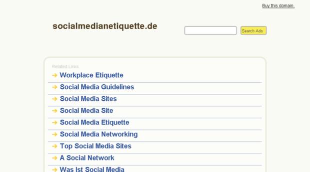 socialmedianetiquette.de