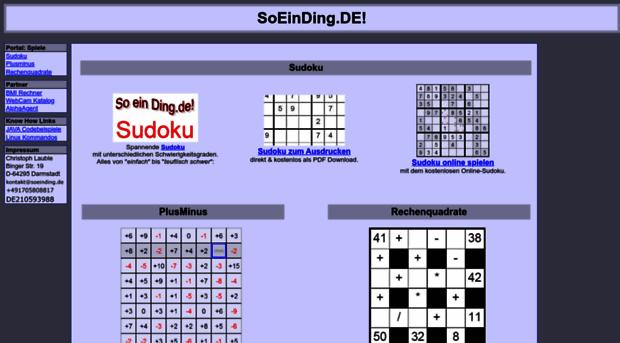 So Ein Ding De Sudoku