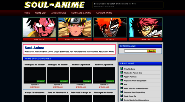 soul-anime.us - Watch Anime Online for FREE in... - Soul Anime