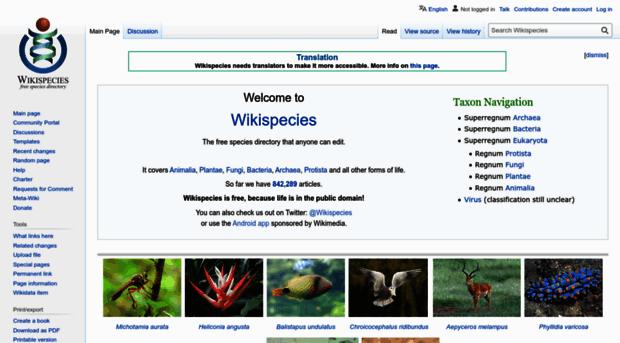 species.wikimedia.org