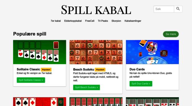 Kabal Spill Gratis