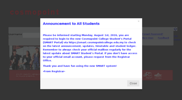 Student Cosmopoint Com My Student Portal Student Cosmopoint