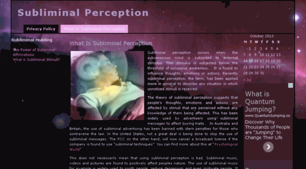 subliminal perception essay