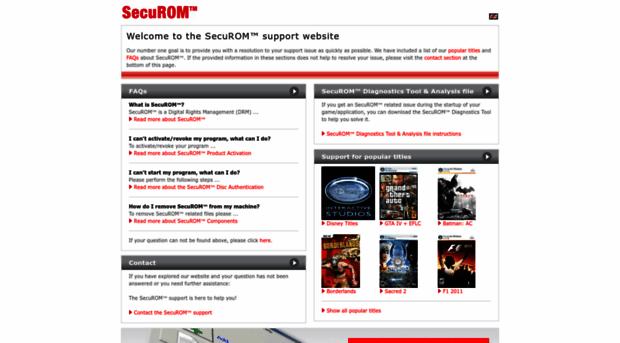 mailto support securom com