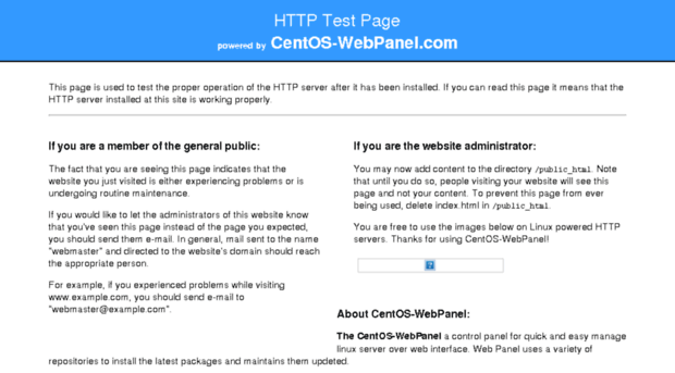 Image Result For Http Server Test Page Powered By Centos Webpanel Com