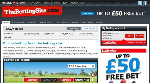 Uk racing post betting site sports betting odds soccerway spain