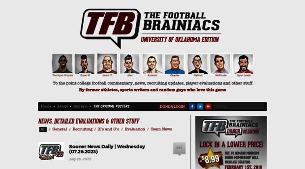 Thefootballbrainiacs Com The Football Brainiacs Ou Ed The Football Brainiacs
