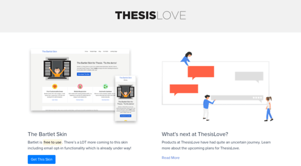 thesis widgets page