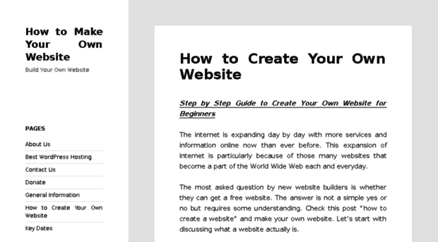 how to get your own free website domain
