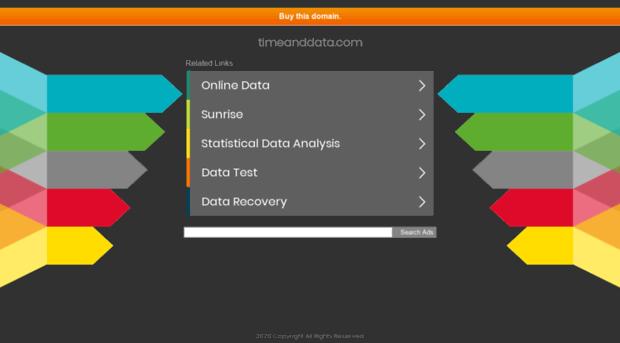 timeanddata.com