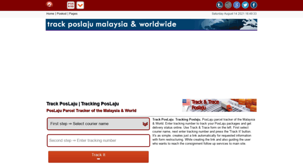 Trackposlaju Com Track Poslaju Tracking Posla Track Pos Laju