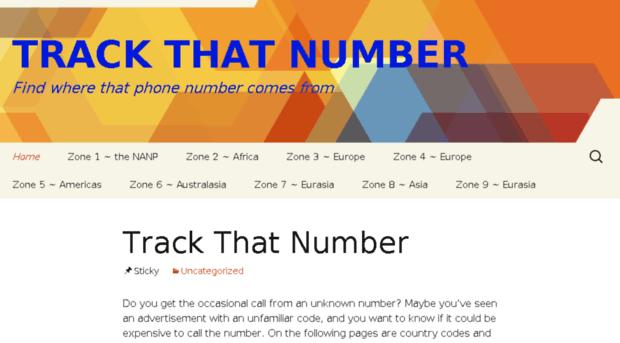 trackthatnumber.com
