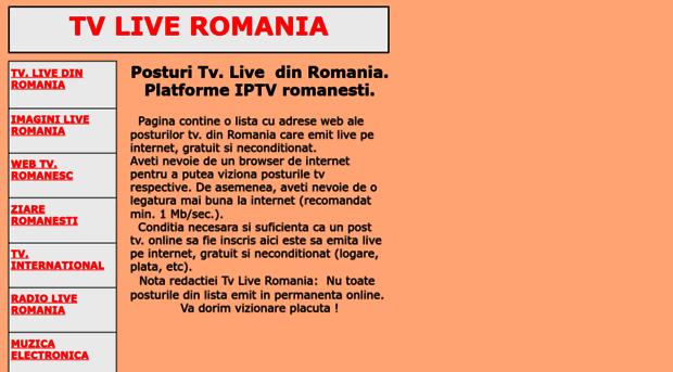 Live free romania online tv Tv Live