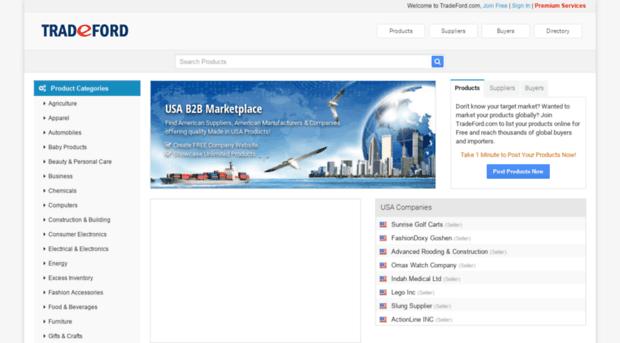 us.tradeford.com - USA B2B Marketplace - American - Us