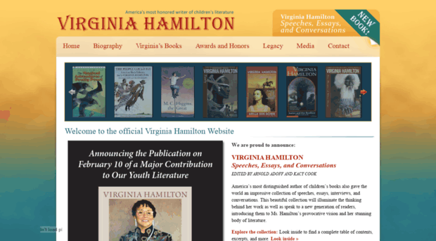 virginia hamilton speeches essays and conversations Resources for the virginia hamilton books below include: virginia hamilton: speeches, essays, and conversations by virginia hamilton, arnold adoff, and kacy cook.