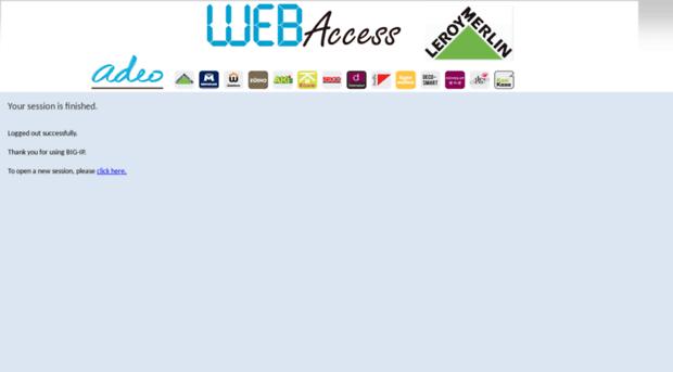 Webaccess Leroymerlin Fr Big Ip Logout Page Webaccess Leroymerlin