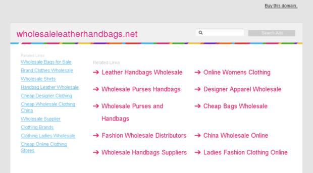 wholesaleleatherhandbags.net
