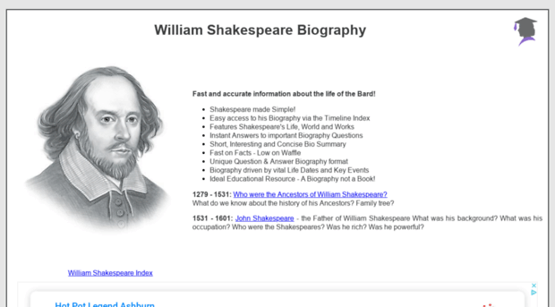 william shakespear biography William shakespeare was probably born on about april 23, 1564, the date that is  traditionally given for his birth he was john and mary shakespeare's oldest.