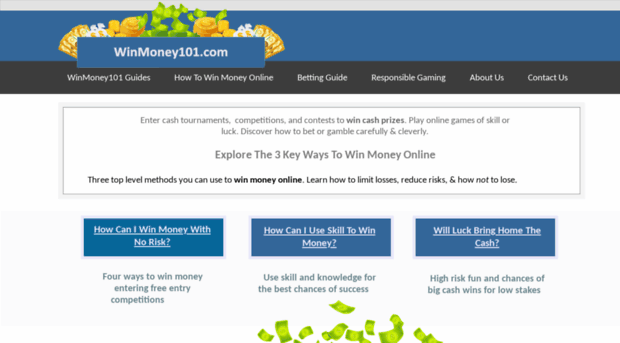 Winmoney101 Com Win Money Real Money Competi Win Money 101