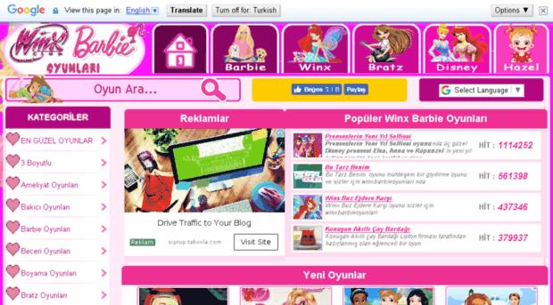 Winxbarbieoyunlari Com Barbie Oyunlari Kiz Oyunlari Winx