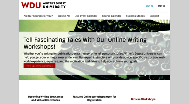 Writing Classes with The Writer's Workshop