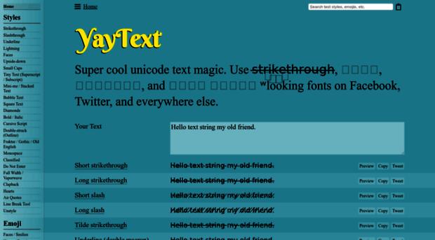 Yaytext Com Yaytext A Text Styling Tool F Yay Text Yaytext.com has #321,028 ranking worldwide. yaytext a text styling tool f yay